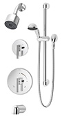 Symmons 3506-H321-V-CYL-B - Dia tub/shower system with lever handle. Symmons Temptrol Pressure-Balancing mixing valve.