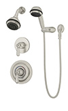 Symmons 4705-STN Allura Shower/Hand Shower Unit
