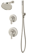 Symmons® 5305-STN Museo Single Handle Pressure Balancing Combo Shower and Hand Held System, Satin Nickel
