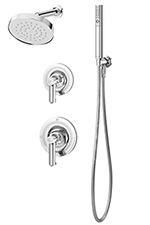 Symmons® 5305 Museo Single Handle Pressure Balancing Combo Shower and Hand Held System, Chrome