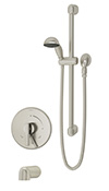 Symmons S-3504-H321-V-CYL-B-STN Dia Tub/Hand Shower System
