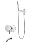 Symmons S-4304 Sereno Tub/Hand Shower System