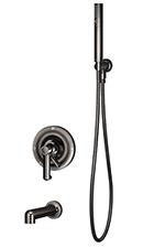 Symmons S-5304-BLK Museo Tub/Shower System