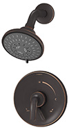 Symmons S-5501-SBZ Elm Shower System