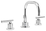Symmons SLW-3512 - Dia Two Handle Widespread Lavatory Faucet with quarter-turn ceramic control components, 8-inch mount, and braided hoses. Includes lift-rod with pop-up drain assembly